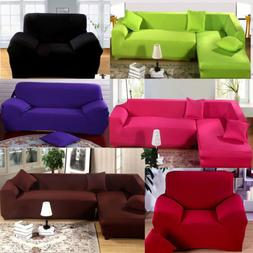 1/2/3/4 Seat Sofa Couch Cover Sectional Stretch Elastic Fabr
