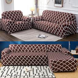 For 1/2/3/4 Seaters Sectional Sofa Cover Slipcover Stretch C