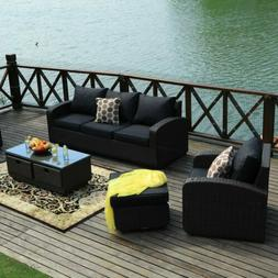 1 5 6pc rattan wicker sofa set