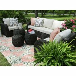 1~6PCS Rattan Wicker Sofa Set Sectional Couch Cushioned Furn