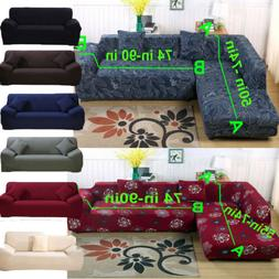 10# Sectional L Shape Corner Stretch Sofa Slipcover Couch Co