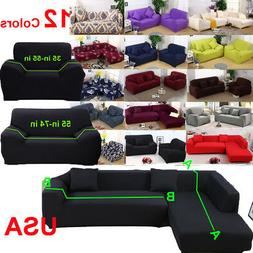 12 Colors Stretch Couch Slipcover Sofa Cover L Shape Section