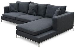 120 in. Contemporary Sectional Sofa