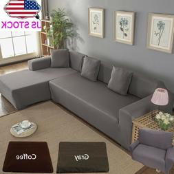 2/3/L-Shape 3+2 Seat Size Stretch Fabric Sofa Cover Sectiona