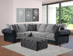 2-Pc Reed Charcoal Sectional
