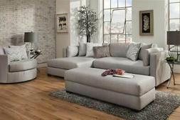 2-Pc Right Side Facing Sectional in Gray
