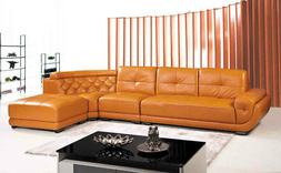 2-Piece Modern Leather Sectional Sofa Set SA2886