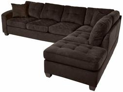 2 piece sectional sofa polyester with reversible