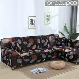 2 pieces Covers for L Shaped Sofa living Room Sectional Slip