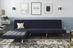 DHP 2264629SET Emily Sectional Futon, Navy