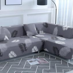 2pcs 3-seater Sofa Covers Fabric Stretch Slipcovers for L Sh