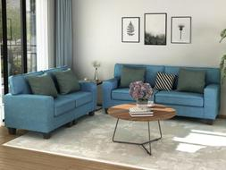 2pcs living room sofa set upholstered loveseat