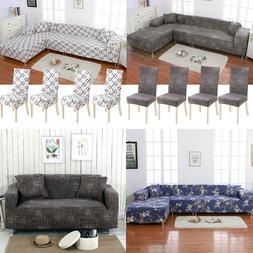 2pcs Polyester Fabric Stretch Slipcovers Sofa Covers for L S