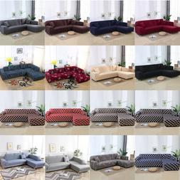 2pcs set sofa covers polyester fabric stretch