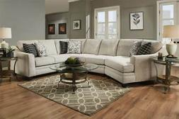 3-Pc Endurance Oatmeal Right Side Facing Sectional