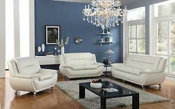 Golden Coast Furniture 3 PC Leather Sofa Sectional Sets