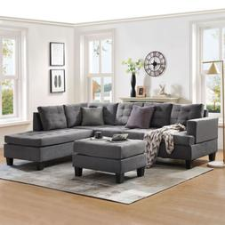 3 piece sectional sofa w chaise lounge