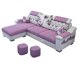 3 Seat Linen Living Room <font><b>Sofa</b></font> Set Home F