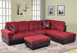 3pc sectional sofa set with free ottoman