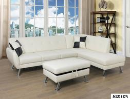 LifeStyle Furniture 3PC Sectional Sofa Set with Free Ottoman