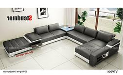 4-Piece Modern Leather Sectional Sofa Set S1004