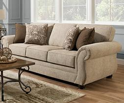 Simmons Upholstery 4252BR-03 Camden Parchment Camden Parchme