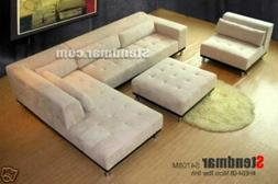 4PC MODERN DESIGN FABRIC SECTIONAL SOFA S4708M