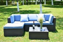 5 pcs patio furniture sectional sofa set