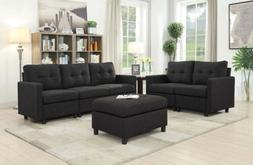 5 Seat Contemporary Sofa Set Modern Sectional Sofa Living Ro