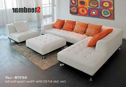 6pc modern euro design leather sectionals sofa