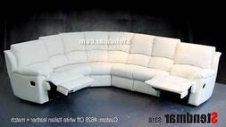 6pc new leather sectional sofa 2 recliners