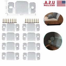 8PCS Universal Sectional Sofa Interlocking Sofa Connector Br