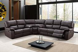 Blackjack Furniture 9389-BROWN-SECT Sectional Leather Air, R