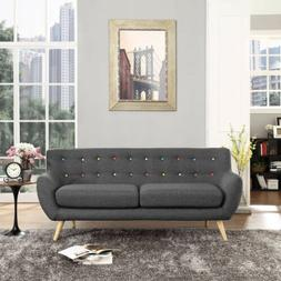 Modway Remark Mid-Century Modern Sofa With Upholstered Fabri