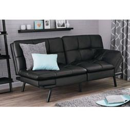 Adjustable Futon Leather Sofa Convertible Foldable Couch Sec