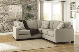 Alenya Vintage Casual Tan Fabric Right Chaise Sectional Sofa