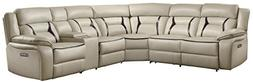 Homelegance Amite 6-Piece Power Reclining Sectional Sofa wit