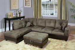 Beverly Fine Furniture Andes Microfiber with Faux Leather So