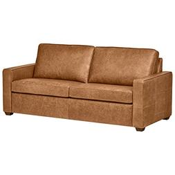 "Rivet Andrews Modern Classic Top-Grain Leather Sofa, 82"" W,"