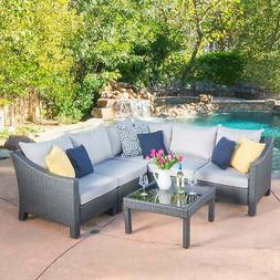 antibes outdoor 6 piece v shaped sectional