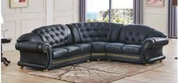apolo sectional sofa in black color 100