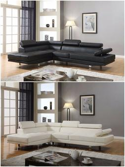 The Room Style Atlantic Faux Leather Sectional Functional Ar