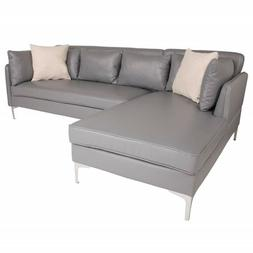 Flash Furniture Back Bay Accent Sectional, Left Chaise, Gray