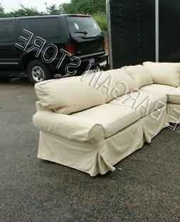 Pottery Barn Basic Sofa Sectional slipcover RIGHT ARM SOFA M