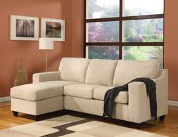 Beige Color Vogue Reversible Sectional Sofa Modern Acme Livi