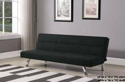 Black Futon Sofa Bed Couch Fabric Convertible BRAND NEW IN B