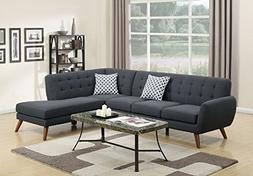 Poundex Bobkona Belinda Linen-Like Polyfabric SECTIONAL in A