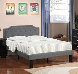 Poundex Bobkona Finely Polyfabric Upholstered Twin Size Bed