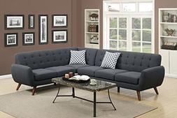 Poundex Bobkona Galiana Linen-Like Polyfabric SECTIONAL in A