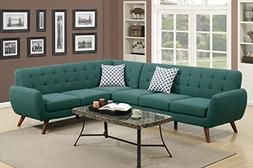 Poundex Bobkona Galiana Linen-Like Polyfabric SECTIONAL in L